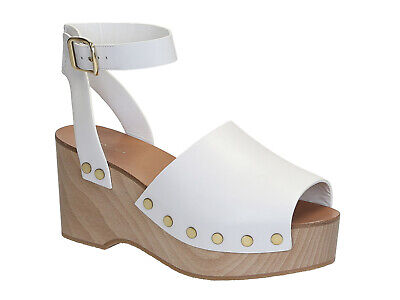 4907b58df3a Céline women s wedges clogs sandals shoes in white Calf leather Size US 9  -EU 39
