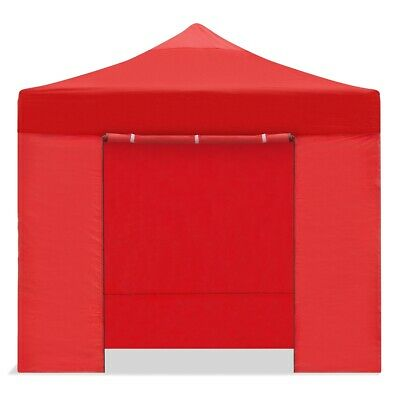 Carpa plegable 3x3m impermeable eventos plegado facil color Rojo Gazebo -McHaus