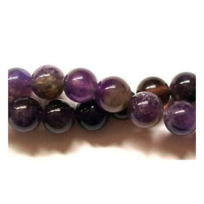 Packet 10 x Purple Amethyst 6mm Plain Round Beads VP1215