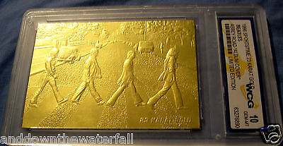 BEATLES 23Kt Gold Card Abbey Road London Album Music World Famous London Music