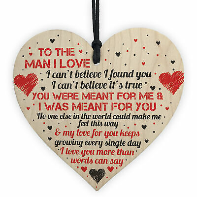 Husband Gifts Birthday Card Wooden Heart Anniversary Gift For Him