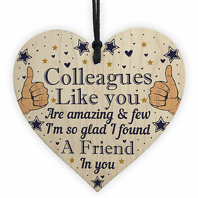 Colleague Thank You Gifts Wooden Heart Friendship Gift Sign Work Leaving Gifts