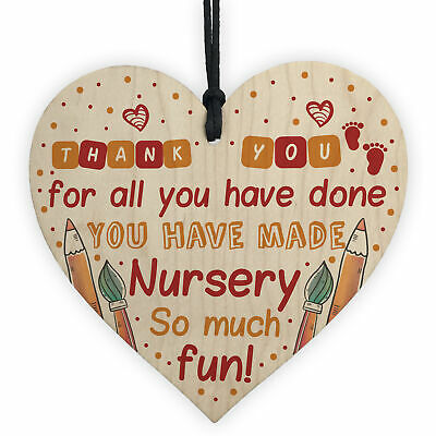 THANK YOU Gift For Teacher Teaching Assistant Leaving Nursery School Gift Plaque