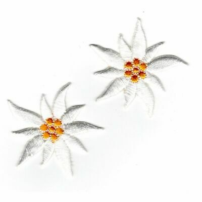 Patch Ecusson Thermocollant 2 x Edelweiss 3,50 x 4 cm REF 3996