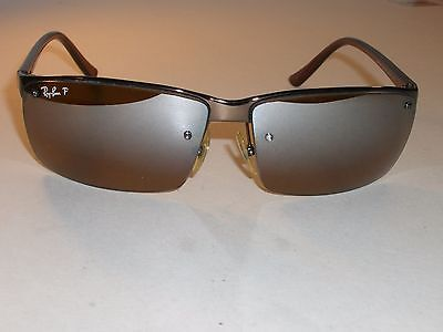 27708f7bd5 Ray Ban Rb3276 Half Rimless 64  13 Brown Gradient Mirror Polarized  Sunglasses