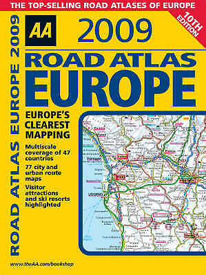 (Good)-AA Road Atlas Europe (AA Atlases and Maps) (Spiral-bound)-AA Publishing-0