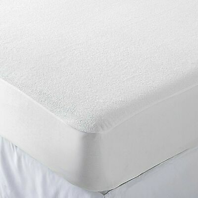 New King Size 100% Waterproof Terry Towel Mattress Protector Fitted Sheet Cover