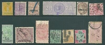 BRITISH EMPIRE Queen Victoria used High Values to £1 including revenues