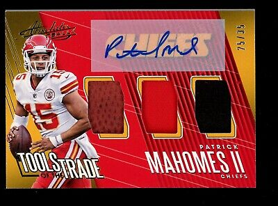 2017 Absolute Tools of The Trade Patrick Mahomes RC Jersey AUTO /35