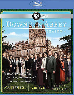 Downton Abbey: Season 4 (Blu-ray Disc, 2014, 3-Disc Set) Still Shrink Wrapped.