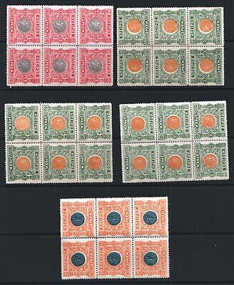Greece 1914 Epirus Moschopolis Local Issue - Five MNH Blocks  - (68)
