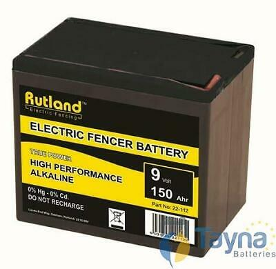 Rutland 9V 150Ah Alkaline Electric Fence Batterie - Large