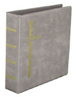 Gray Scott Stamp Cover Album 3-Ring Binder & Pack of 25 Black Cover Pages
