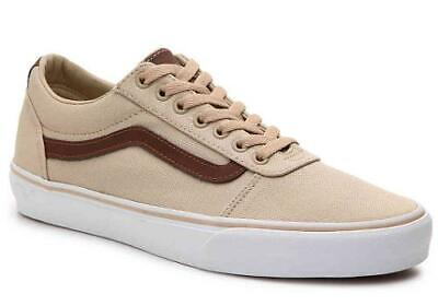 44d280064986 Men s VANS WARD LO Tan+Brown Canvas Athletic Sneakers Skate Casual Shoes NEW