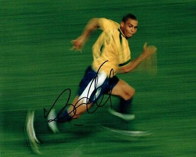 RONALDO SIGNED Autograph BRAZIL 10x8 Photo 2 AFTAL COA World Cup WINNER