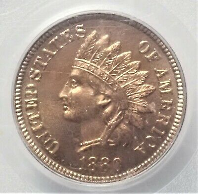 1880 Indian Head Cent PCGS PR-65 RD Red with Luster Old Geen Label