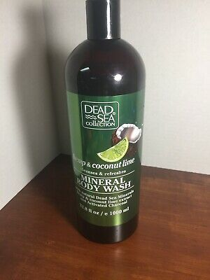 Dead Sea Collection 33.8 Oz Hemp & Coconut Lime Refreshing Mineral Body Wash