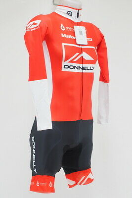 8a35d7caf Castelli Men s Lycra Long Sleeve CX Cycling Skinsuit Size Medium Red White