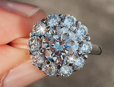 2ct Round Brillaint Cut Diamond Forever Engagement Ring 14K White Gold Over