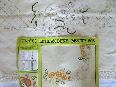 Semco Craft Embroidery 603 Tablecloth Hemmed 95 X 95 Cm Little Bit Started