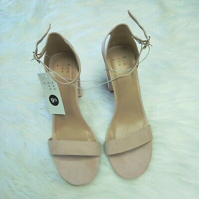 6f3c7dab63 NWT A New Day Shoes Women's Taupe Ema High Block Heel Pumps Sandals, Size 9
