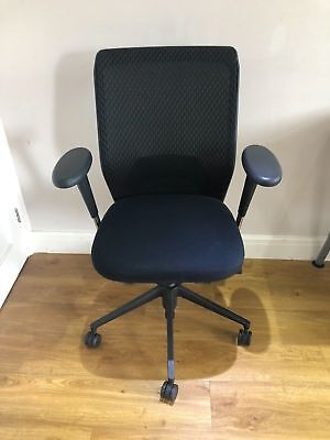 Black Vitra Id Concept Mesh Ergonomic Office Task Chair. Free Uk Delivery