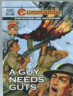 A Guy Needs Guts,commando For Action And Adventure,no.4437,war Comic,old No.3