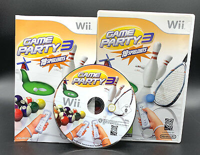 "NINTENDO WII SPIEL"" GAME PARTY 3 - 19 Spielehits "" KOMPLETT"