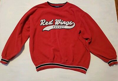 Vintage 90 s Starter NHL Detroit Red Wings Hockey Crewneck Sweatshirt Size  XL 098f6271b