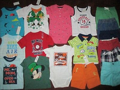 NWT Toddler Boys Size 18-24 Months Spring & Summer Lot of Clothes Outfits NEW!!