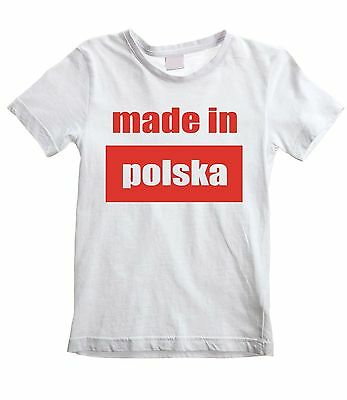 MADE IN POLSKA KIDS T-SHIRT - Poland Polish Football Childrens - All Sizes f0fc8c57a