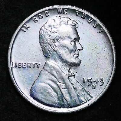 UNCIRCULATED 1943-S Steel Lincoln Wheat Cent Penny FREE SHIPPING