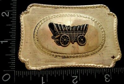 Lk20163 Vintage ***Covered Wagon*** Line Design Western Style Belt Buckle
