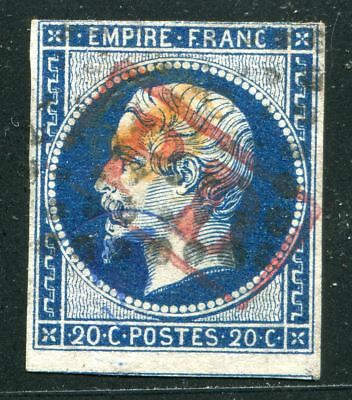 Timbre Classique France Napoléon N°14 oblitéré cachet PD rouge rectangle