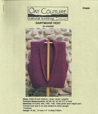Hairpin Lace Scarves to Crochet Oat Couture PH605 Instruction Pattern 3 designs