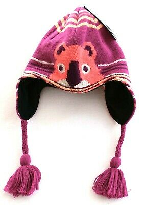 8117ee43430 Columbia Pink Critter Winter Worn Peruvian Fleece Lined Hat Youth One Size  NWT