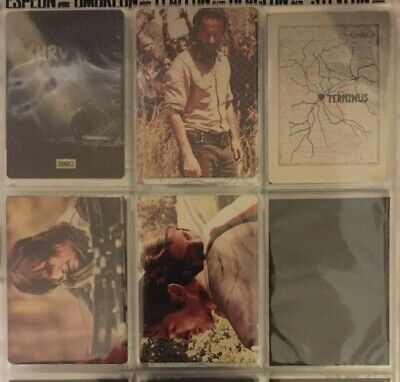 The Walking Dead Season 4 Complete Set of 5 Metal Promo Cards P1 P2 P3 P4 P5