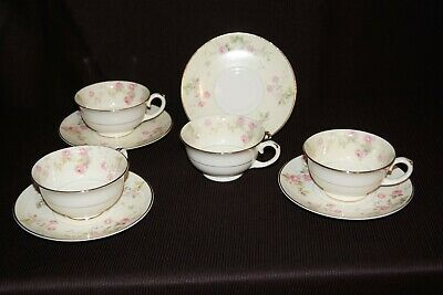Vintage Pope Gosser 8 Pc Tea Cup Set. Great Shape And Ready To Ship