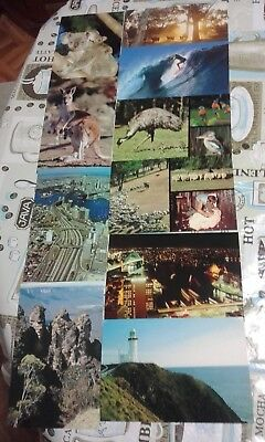 1980s VINTAGE AUSTRALIAN COLOUR 22c POSTCARDS IN A.P MARRON BOX  X42 SET @$3-4ea