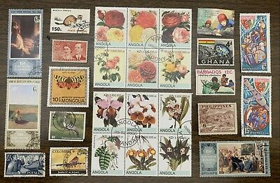 [Lot 312] 150 Different Worldwide Stamps Collection - Starts at 1 cent each!