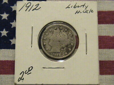 """1912 V Liberty Head Nickel. A very nice looking coin! """"Cents""""on this Nickel-Look"""