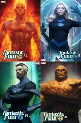 Fantastic Four #1 Artgerm Variant Bundle Set Marvel Slott Fourever Pt1 8818