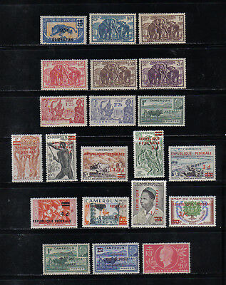 46 Nice Older Mint Cameroun Postage Air Mail And Postage Due Stamps 1939 - 1961