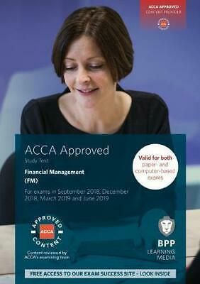 ACCA Financial Management: Study Text by BPP Learning Media, Paperback Book, New