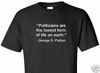 George S. Patton T-Shirt Politicians Funny Quote General Wwii Usa Black Shirt