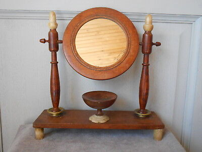 Antique French Fabulous Cherry Wood LADY MIRROR ...EMPRIRE  ...19th