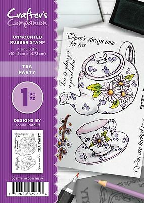 New Crafter/'s Companion Unmounted Rubber Stamp Tea Party