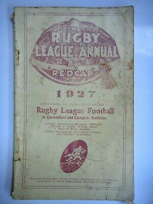 1927 Qld Rugby League Annual Red Cap Programme