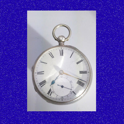 Substantial Antique Silver Chain Fusee Chapman of Oxford Pocket Watch 1881
