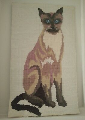 Vintage Siamese Pussycat Tapestry  Cat Picture
